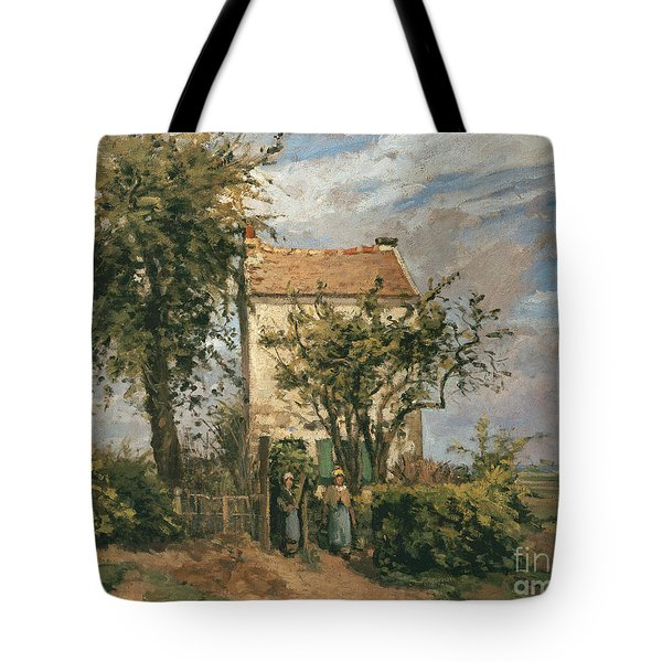 The Road To Rueil Tote Bag by Camille Pissarro