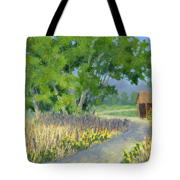 The Road To The Back Field Tote Bag