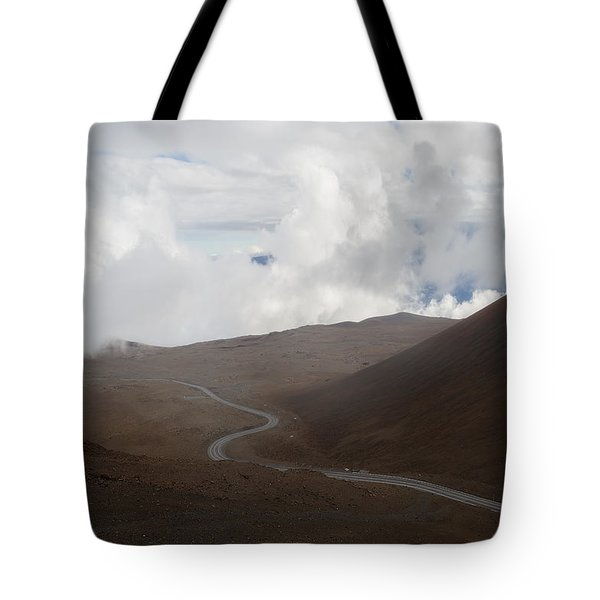 Tote Bag featuring the photograph The Road To The Snow Goddess by Ryan Manuel