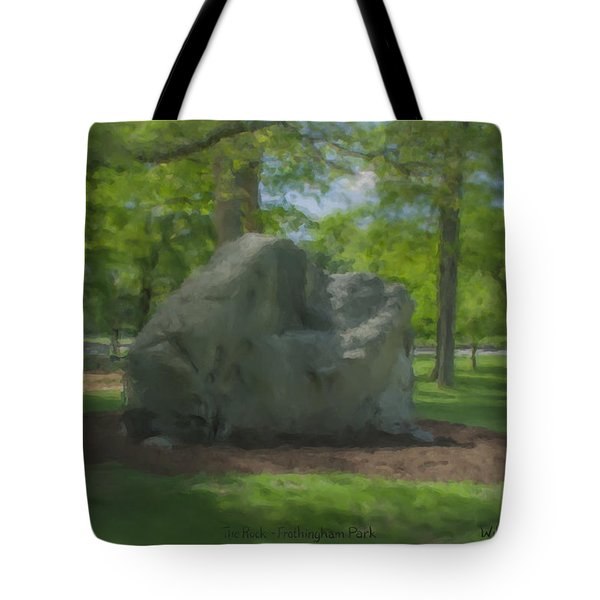 The Rock At Frothingham Park, Easton, Ma Tote Bag