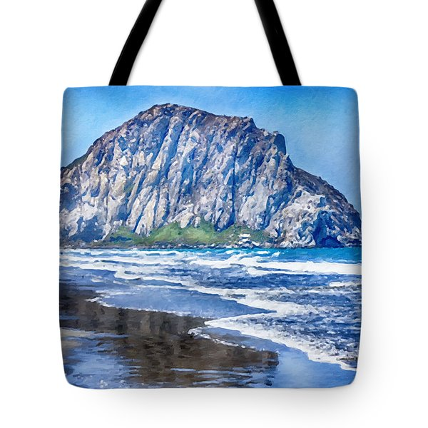 The Rock At Morro Bay Large Canvas Art, Canvas Print, Large Art, Large Wall Decor, Home Decor, Photo Tote Bag by David Millenheft