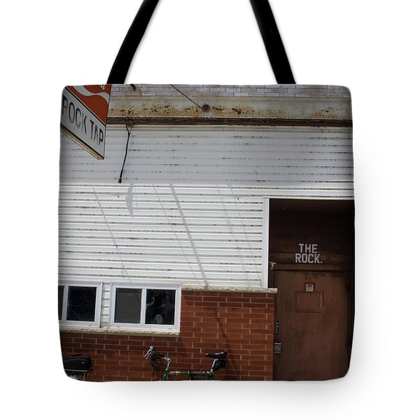 Tote Bag featuring the photograph The Rock Bike by Dylan Punke