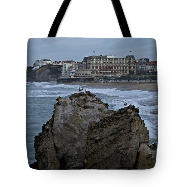 Tote Bag featuring the photograph The Rock by Cendrine Marrouat