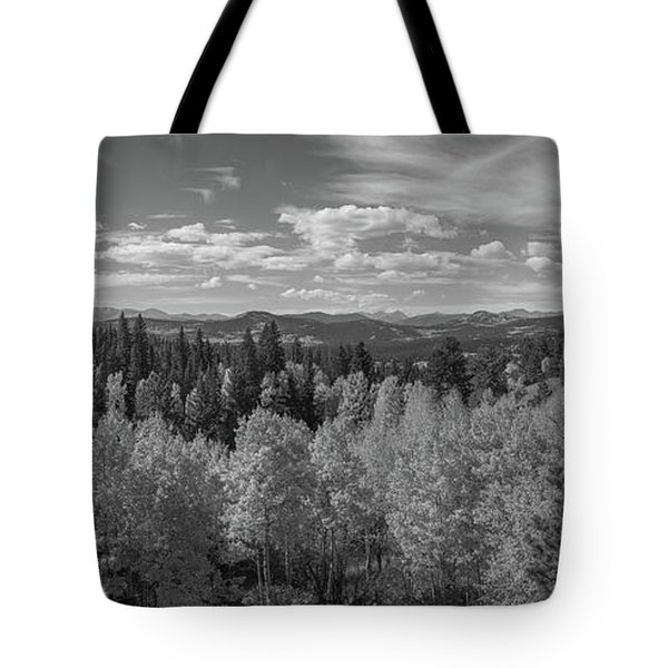 The Rocky Mountains Bw Tote Bag