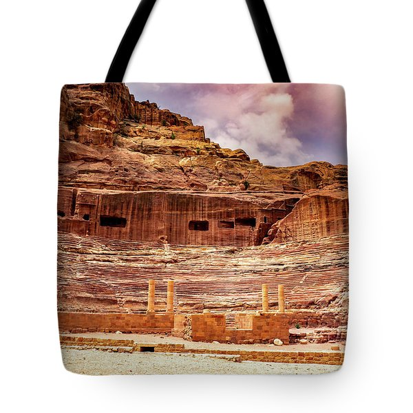 The Roman Theater At Petra Tote Bag