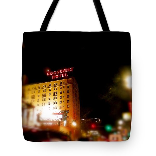 The Roosevelt Hotel By David Pucciarelli  Tote Bag