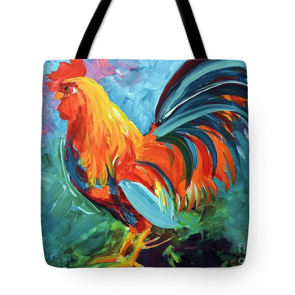 The Rooster Tote Bag by Tom Riggs