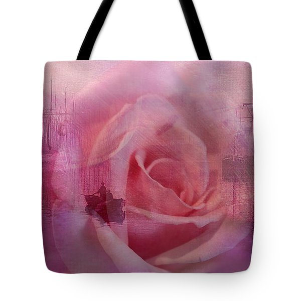 The Rose And The Sea Tote Bag by Wallaroo Images