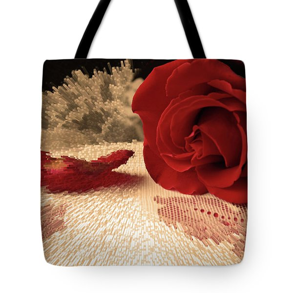The Rose Tote Bag by Bonnie Willis
