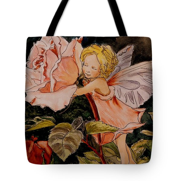 The Rose Fairy After Cicely Mary Barker Tote Bag