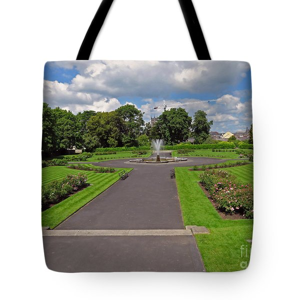 The Rose Garden Of Kilkenny Castle Tote Bag