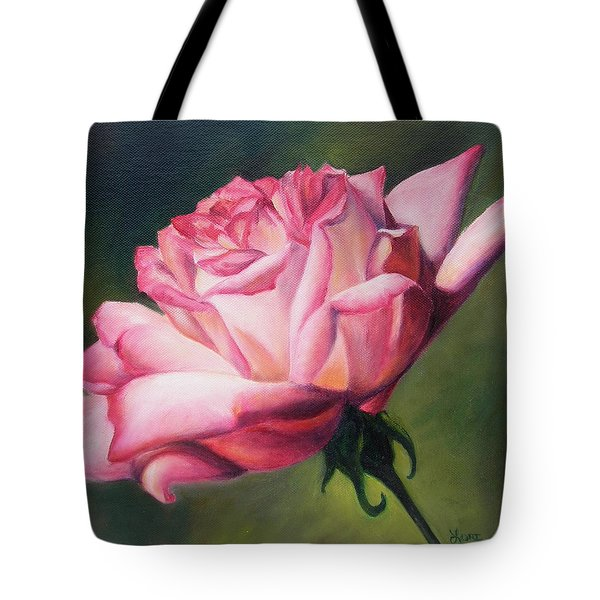 Tote Bag featuring the painting The Rose by Lori Brackett