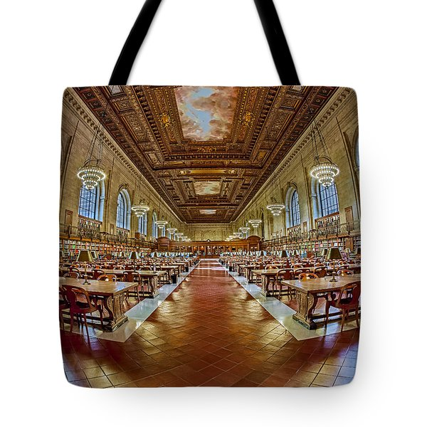 The Rose Main Reading Room Nypl Tote Bag by Susan Candelario