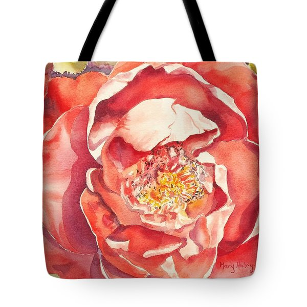 Tote Bag featuring the painting The Rose by Mary Haley-Rocks