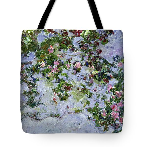 The Roses Tote Bag by Claude Monet