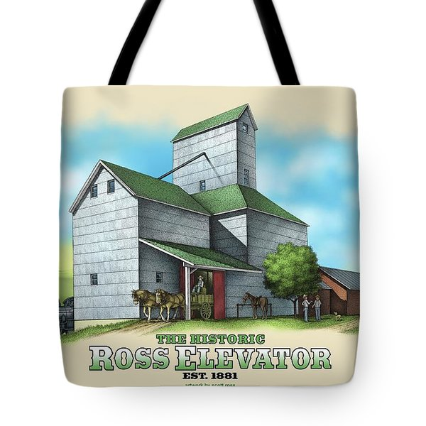 The Ross Elevator Tote Bag by Scott Ross