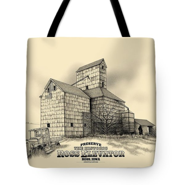 The Ross Elevator Version 2 Tote Bag by Scott Ross