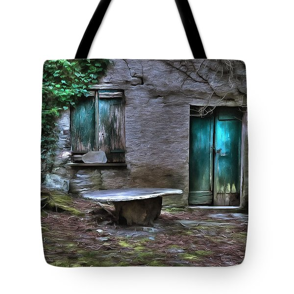 The Round Table House In The Abandoned Village Of The Ligurian Mountains High Way Tote Bag