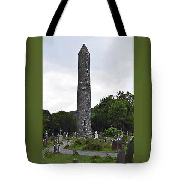Tote Bag featuring the photograph The Round Tower. by Terence Davis