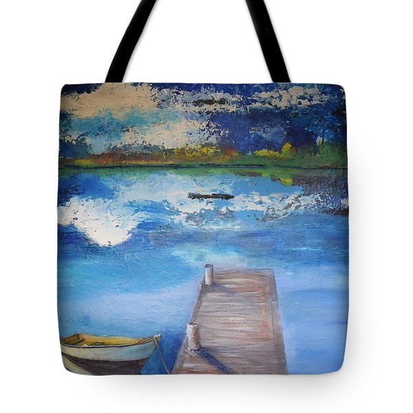 Tote Bag featuring the painting The Rowboat by Gary Smith