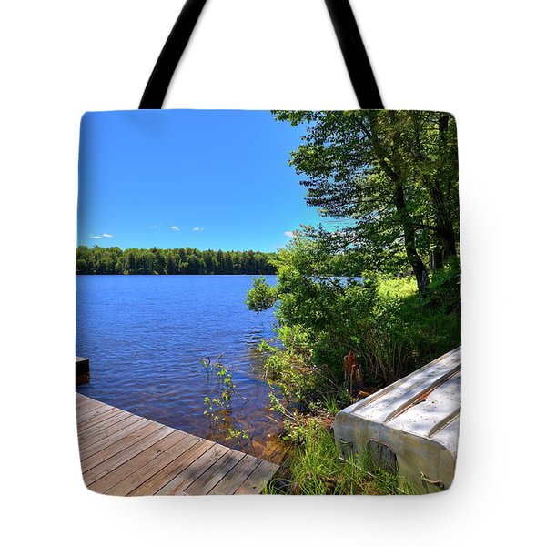 Tote Bag featuring the photograph The Rowboat On West Lake by David Patterson