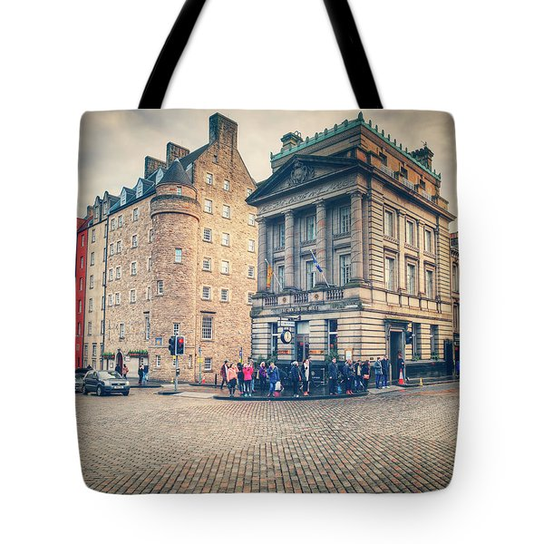 Tote Bag featuring the photograph The Royal Mile by Ray Devlin