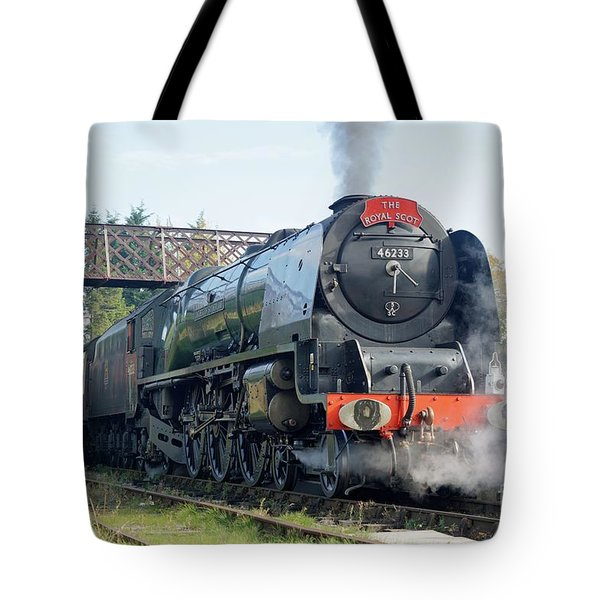 Tote Bag featuring the photograph The Royal Scot At Butterley by David Birchall