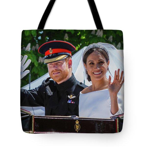 The Royal Wedding Of Prince Harry  To Meghan  Tote Bag