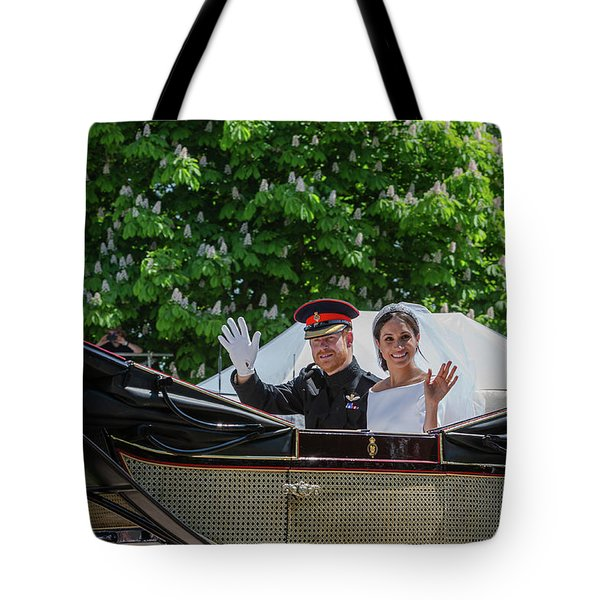 The Royal Wedding Harry Meghan Tote Bag