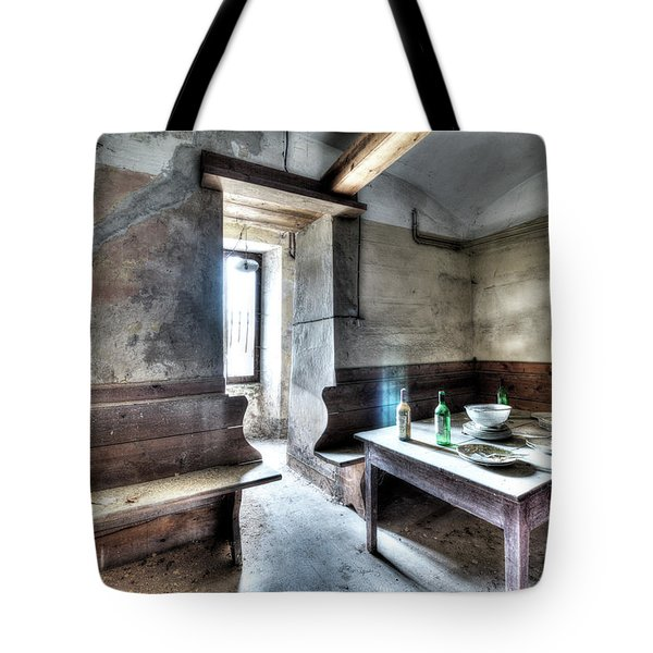 Tote Bag featuring the photograph The Rural Kitchen - La Cucina Rustica  by Enrico Pelos
