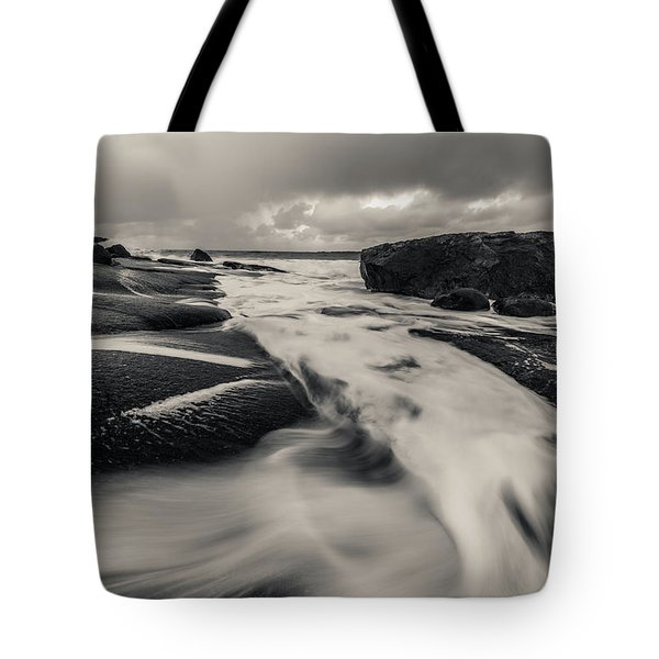 The Rush Of The North Sea Tote Bag