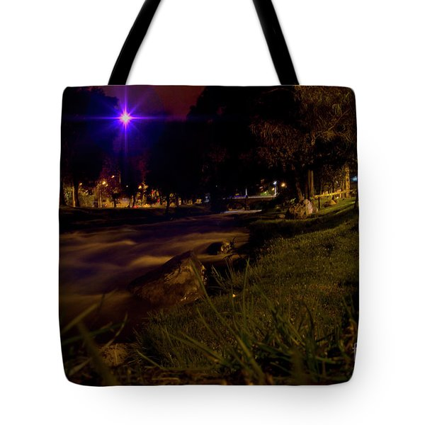 Tote Bag featuring the photograph The Rushing Rio Tomebamba IIi by Al Bourassa