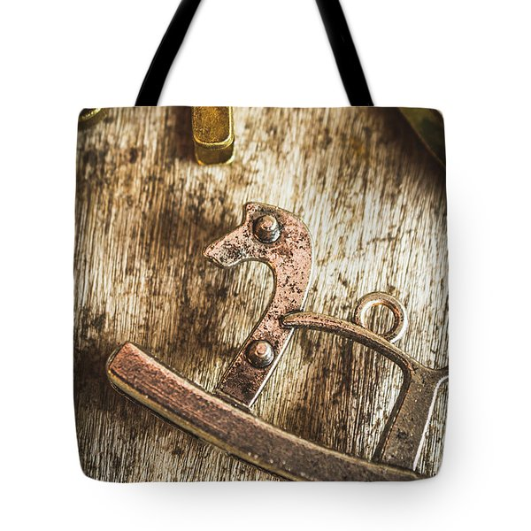 The Rusted Toy Horse Tote Bag