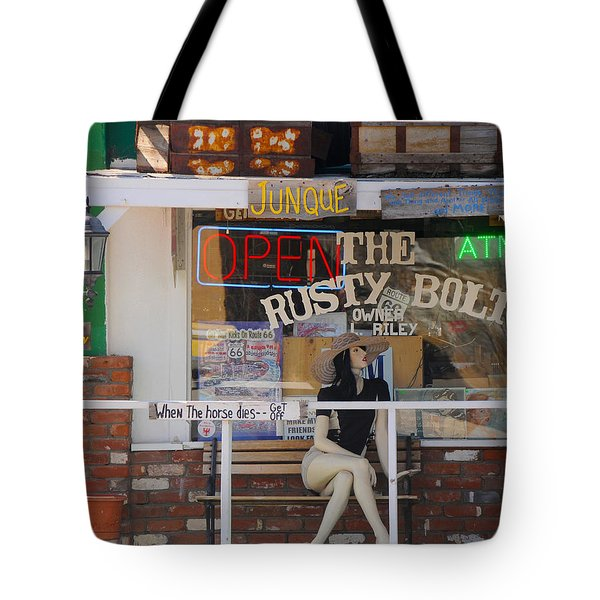 The Rusty Bolt - Seligman, Historic Route 66 Tote Bag