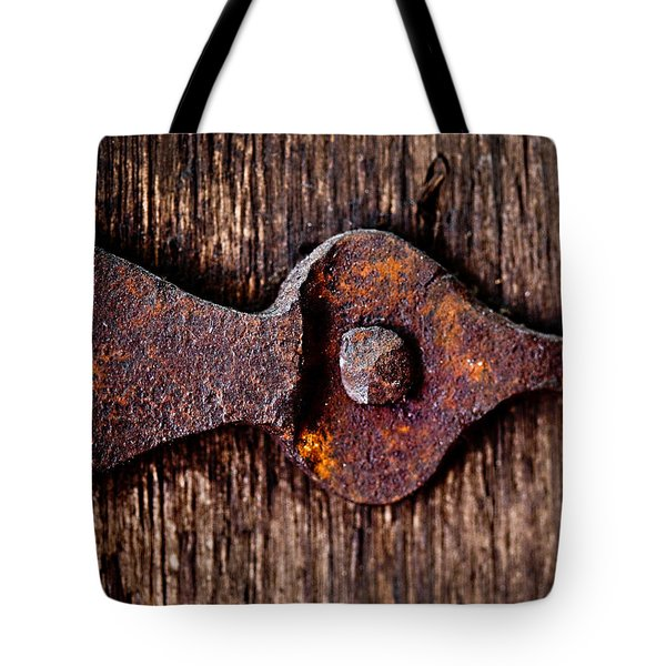 The Rusty Hinge Tote Bag by Lisa Russo