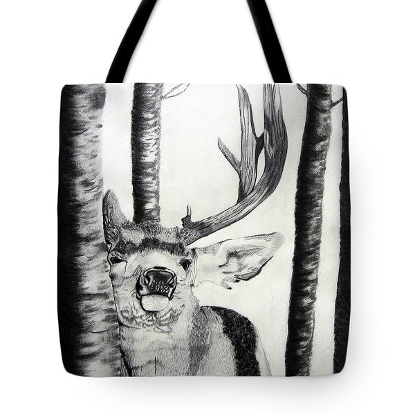 Tote Bag featuring the drawing The Rutt by Mayhem Mediums