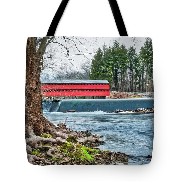 Tote Bag featuring the photograph The Sachs by Mark Dodd