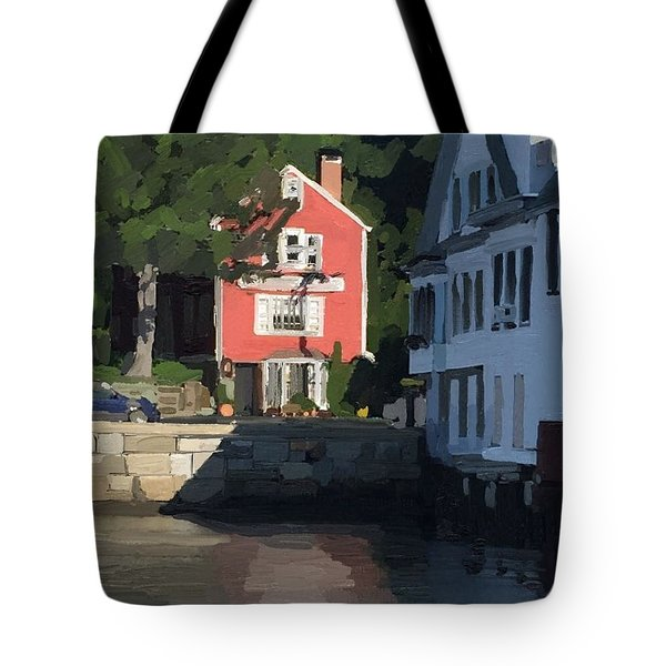 The Sacred Cod And Beacon Marine Tote Bag by Melissa Abbott