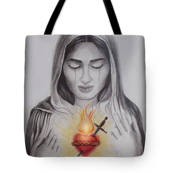 The Sacred Heart Tote Bag