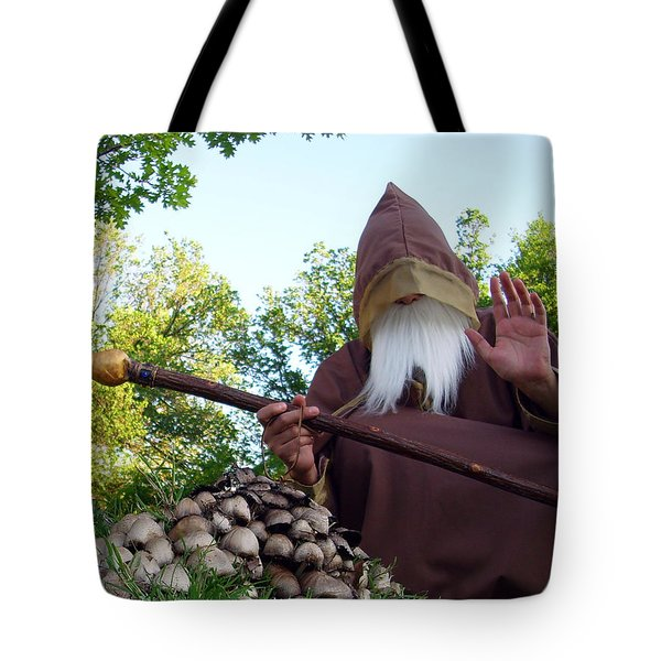 The Sage With Shrooms Tote Bag by Ismael Cavazos