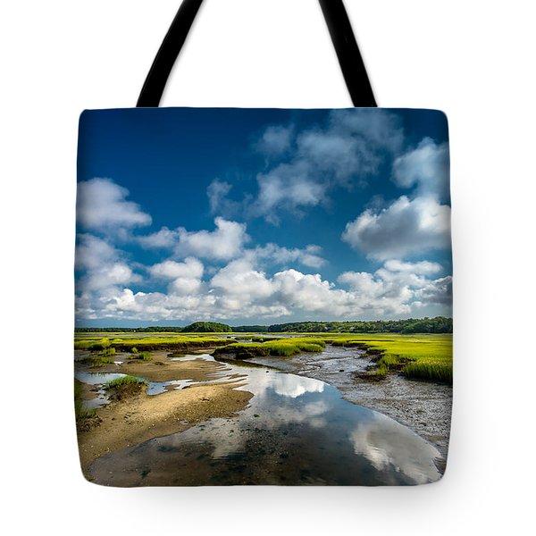 The Salt Marshes, Wellfleet Ma Tote Bag by Dapixara Art