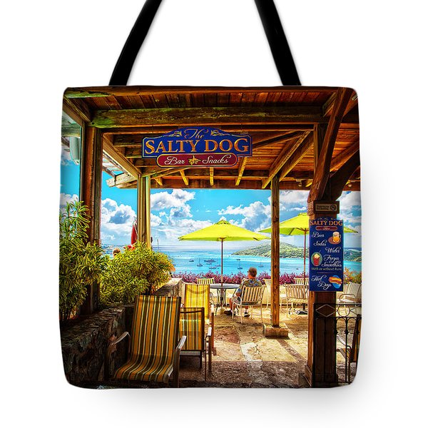 The Salty Dog Cafe St. Thomas Tote Bag