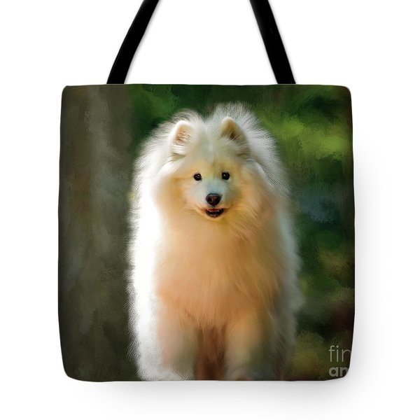 The Samoyed Smile Tote Bag by Lois Bryan