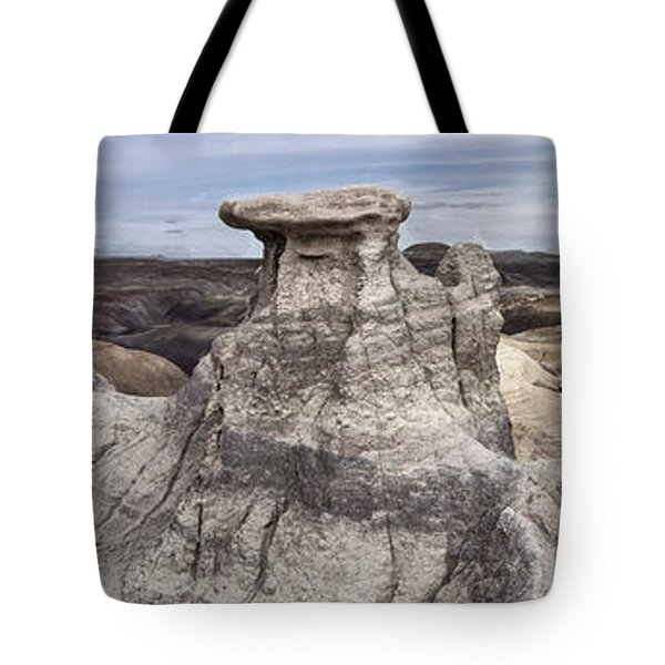 Tote Bag featuring the photograph The Sandcastles by Melany Sarafis