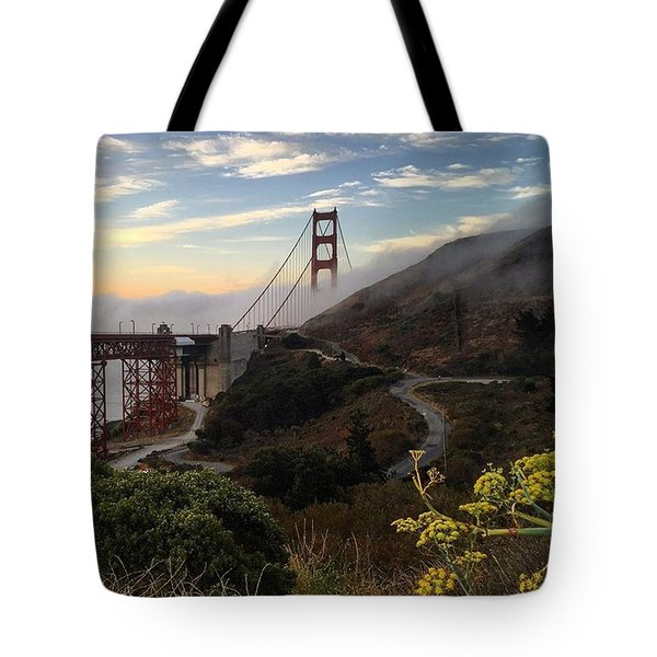 The Fog Returns To The Golden Gate At Sunrise Tote Bag