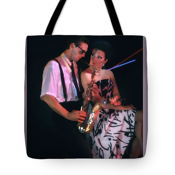 The Sax Man And The Girl Tote Bag