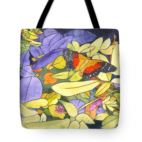 The Scarlet Peacock Tote Bag