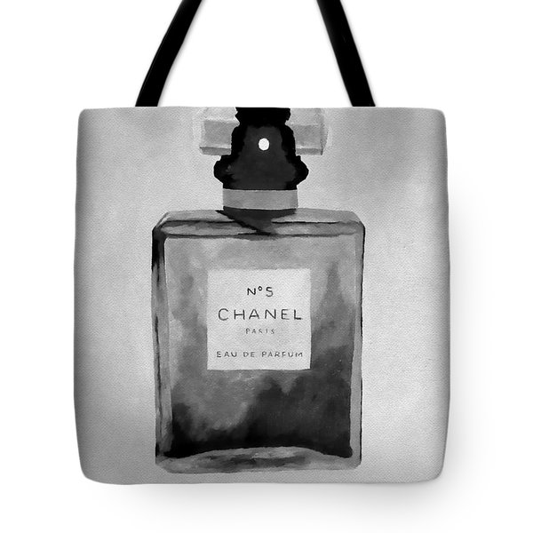 The Scent Black And White Tote Bag
