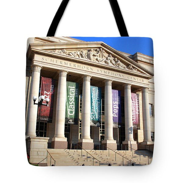 The Schermerhorn Symphony Center Tote Bag by Susanne Van Hulst