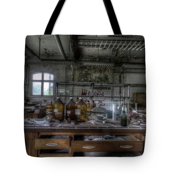 Tote Bag featuring the digital art The Science  by Nathan Wright